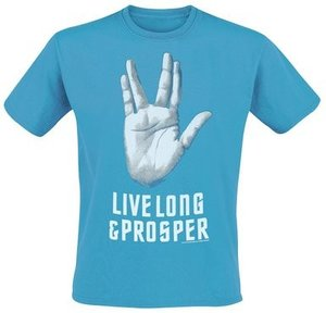 Star Trek - Live Long & Prosper - T-Shirt - Türkis - Größe XL