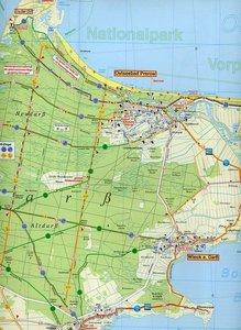Fischland, Darß, Zingst und Umgebung Radwander- und Wanderkarte