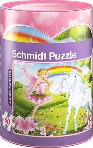 Schmidt 56915 - Einhorn Puzzles in Spardose, 60 Teile