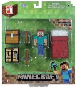 Minecraft 16450 - Survival Pack, Spieler Steve, Minifiguren mit