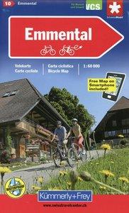 KuF Schweiz Radkarte 10 Emmental 1 : 60 000