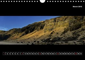 Iceland - Panoramic photographies (Wall Calendar 2015 DIN A4 Lan