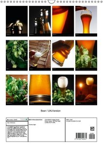 Beer / UK-Version (Wall Calendar 2015 DIN A3 Portrait)