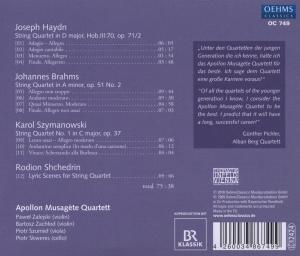 Apollon Musagste Quartett: Streichquartette - zum Schließen ins Bild klicken