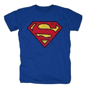 Superman Logo,Shirt,GR L,Blau