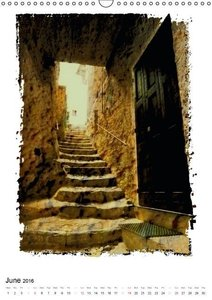 Italian alleys / UK-Version (Wall Calendar 2016 DIN A3 Portrait)