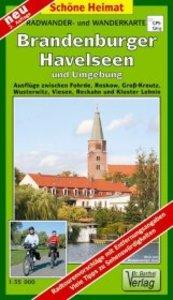 Brandenburger Havelseen und Umgebung 1 : 35 000. Radwander- und