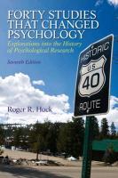 Forty Studies That Changed Psychology - zum Schließen ins Bild klicken