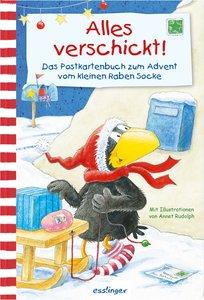 Kleiner Rabe Socke: Alles verschickt! Das Postkartenbuch zum Adv