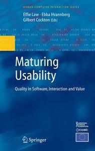 Maturing Usability