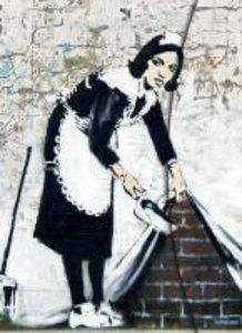 "Banksy ""Camden Maid"""