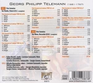 Sämtliche Triosonaten für Violine,Flöte & BC (GA)
