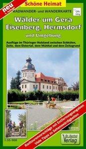 Wälder um Gera, Eisenberg, Hermsdorf und Umgebung 1 : 35 000