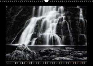 Waterfalls monochrome (Wall Calendar 2015 DIN A3 Landscape)