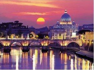 Ravensburger 16093 - Abendstimmung in Rom, Starline, 1000 Teile