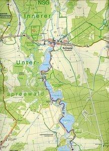 Spreewald mit Märkischer Heidelandschaft 1 : 35 000. Grosse Radw