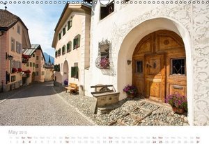 Grisons Engadine 2015 / UK-Version (Wall Calendar 2015 DIN A3 La