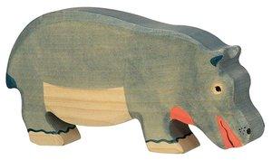Goki 80161 - Nilpferd, fressend, Holz