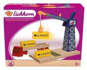 Eichhorn 100001511 - Bahn: Container Kran, 6-teilig