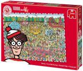 Jumbo Spiele 17096 - Wo ist Walter? Jahrmarkt-Puzzle, 1000 Teile - zum Schließen ins Bild klicken