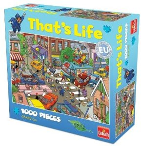Goliath 71309006 - Thats Life Wimmel Puzzle Verkehrs-Chaos, 1000