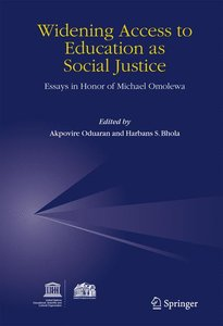 Widening Access to Education as Social Justice