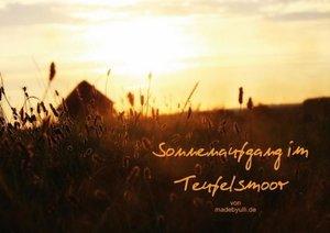 Sonnenaufgang im Teufelsmoor (Posterbuch DIN A4 quer)
