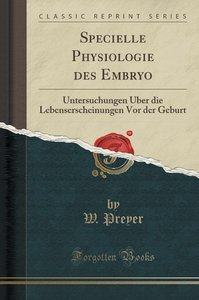 Specielle Physiologie des Embryo