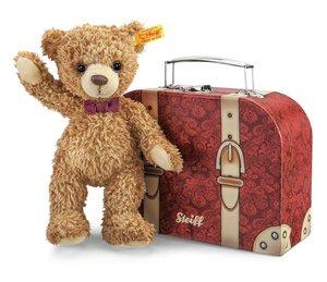 Steiff 109973 - Carlo Teddybär im Koffer, 23 cm
