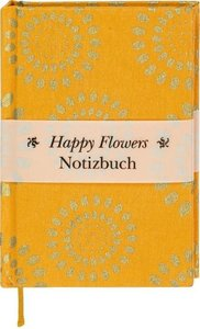 Happy Flowers Notizbuch klein - orange