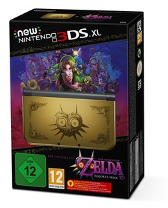 Nintendo New 3DS XL Konsole - Gold inkl. Legend of Zelda: Majora