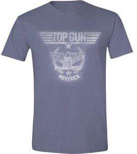 Top Gun - Eagle Maverick - T-Shirt - Blau meliert - Größe M