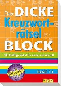 Der dicke Kreuzworträtsel-Block Band 13