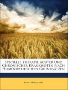 Specielle Therapie Acuter Und Chronischer Krankheiten Nach Homöo