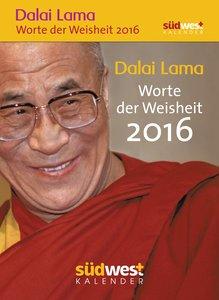 Dalai Lama - Worte der Weisheit 2016 Textabreißkalender