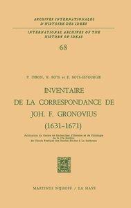 Inventaire de la correspondance de Johannes Fredericus Gronovius