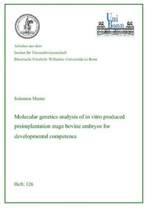Molecular genetics analysis of in vitro produced preimplantation