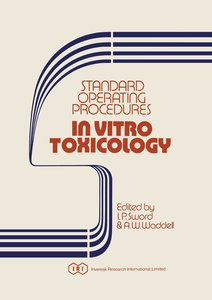 Standard Operating Procedures In Vitro Toxicology