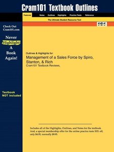 Outlines & Highlights for Management of a Sales Force by Spiro,