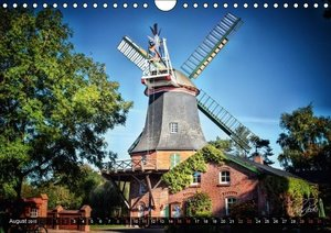 Friesland - The Frisian Mill Route / UK-Version (Wall Calendar 2