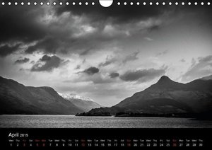 Black and White Scotland (Wall Calendar 2015 DIN A4 Landscape)