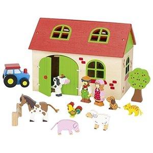 Goki 58497 - Mein Bauernhof mit Spielfiguren