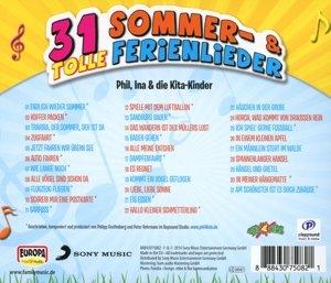 31 tolle Sommer-& Ferienlieder