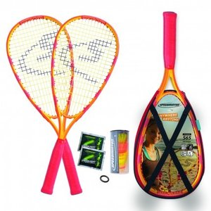 Speedminton Set S65 im X-Back Pack, Gelb/Rot