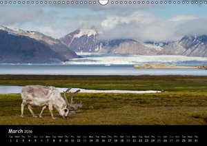Svalbard / UK-Version (Wall Calendar 2016 DIN A3 Landscape)