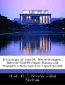 Hydrology of area 39, Western region, Interior Coal Province, Ka