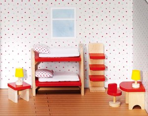 Goki 51719 - Puppenmöbel Kinderzimmer, goki basic.