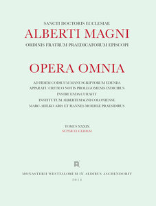 Albertus : [Opera omnia] Alberti Magni opera omnia / Ope