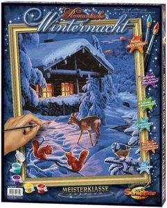 Schipper 609130630 - Romanatische Winternacht, MNZ, Malen nach Z