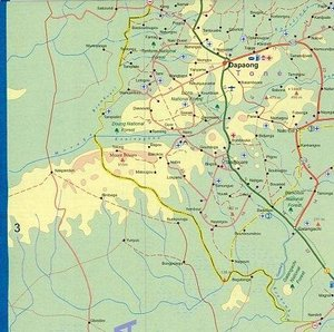 Togo / Benin Travel Reference Map 1 : 580 000